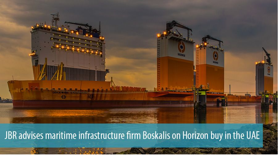 JBR advises maritime services firm Boskalis on Horizon buy in the UAE